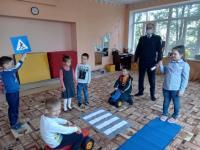 Встреча дошкольников с представителями ГИБДД