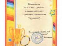"""Спортивные соревнования """"Первые шаги"""""""