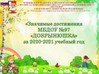 """Значимые достижения МБДОУ №97 """"Добрынюшка"""" за 2020-2021 учебный год"""